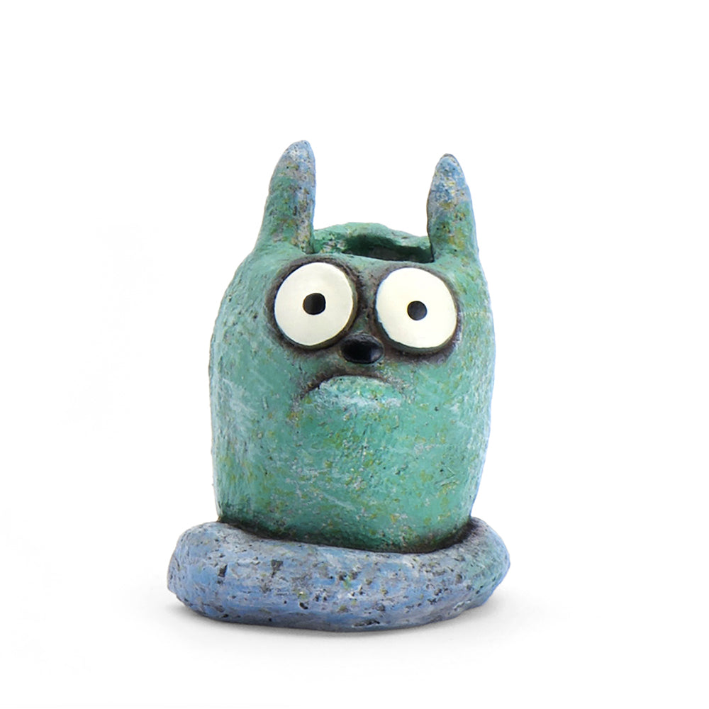 Otis the Cat Bloomies Planter, Teal