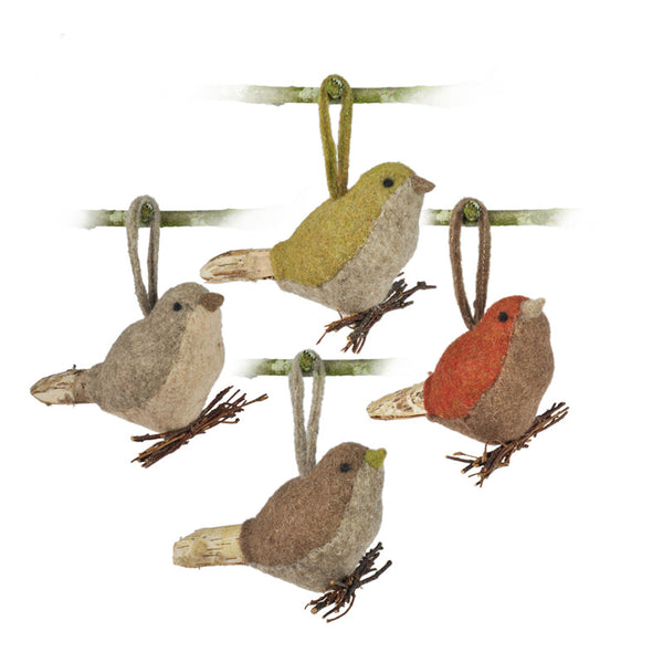 Bird Ornament Set (4 Pieces)