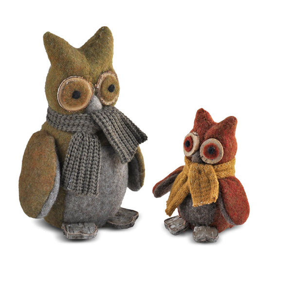 Owls w/ Scarves Set (2 Pieces)