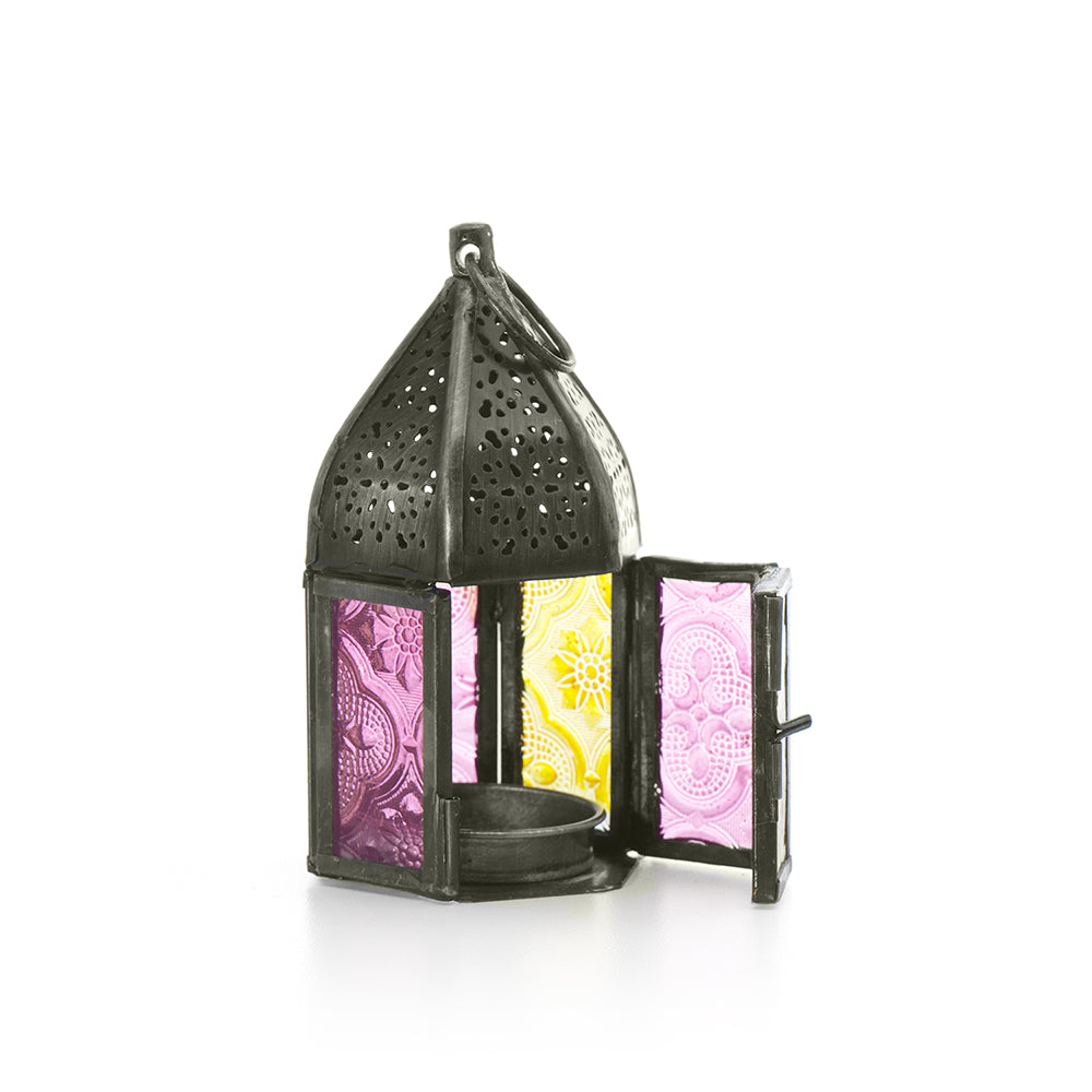 Pink & Yellow Tea Light Lantern
