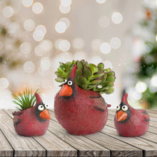 Load image into Gallery viewer, Cardinal Family Planters (Set of 3)