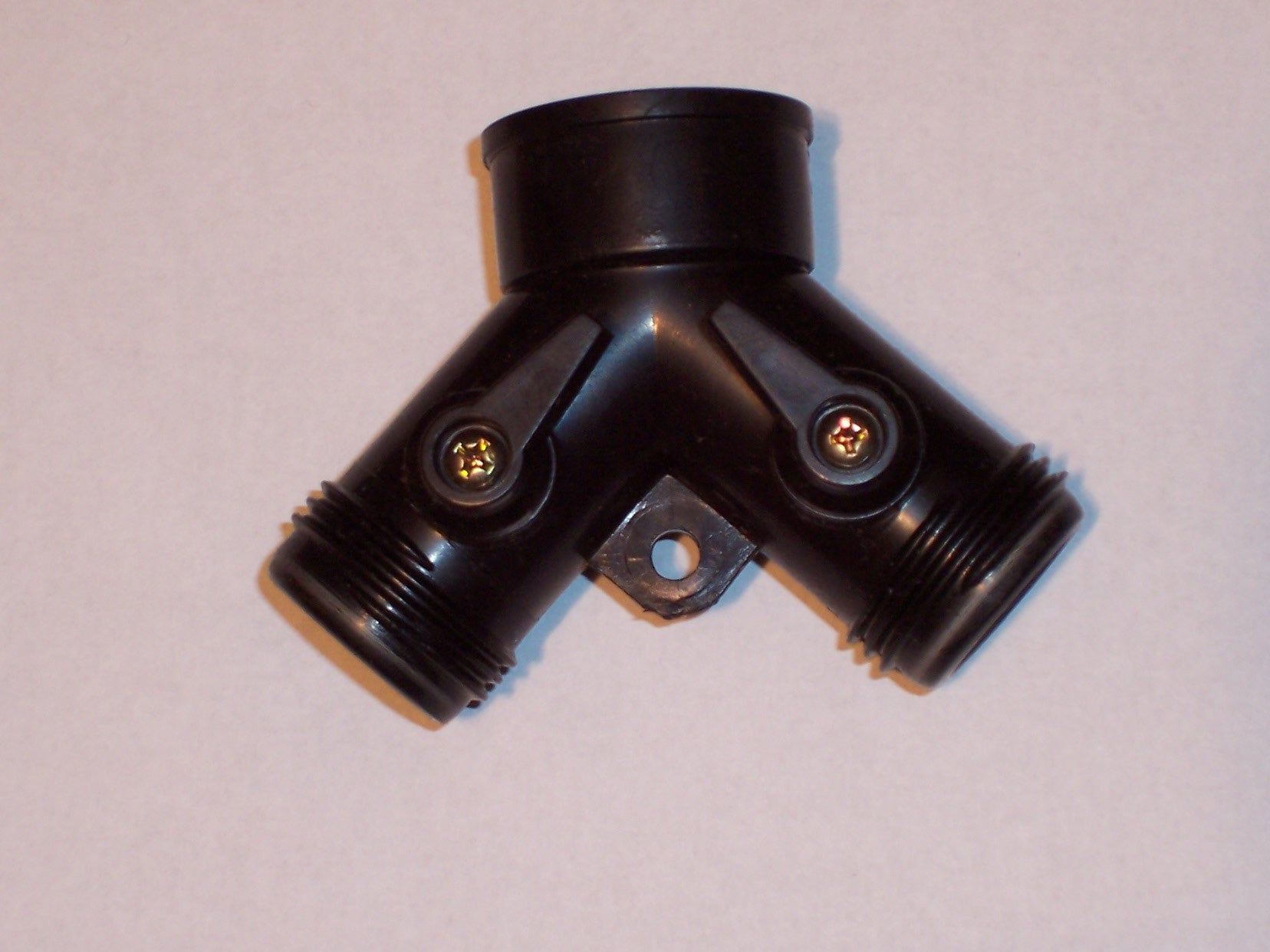 "Y Connector with Dual Shut-Offs - 3/4"" FHT/MHT Garden Hose Fitting"