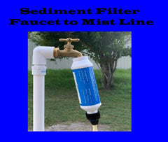 Sediment Filter - A  MUST To Keep Nozzles Clear