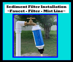 Patio Mist System Kit - Hooks to Your Faucet The Original System Made in USA!! You cut and assemble to your specific needs!
