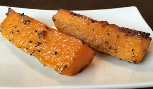 Sweet Salty Ginger Roasted Butternut Squash