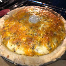 Marie's Twisted Eggy Cheesy Sausage Pie (Quiche!)