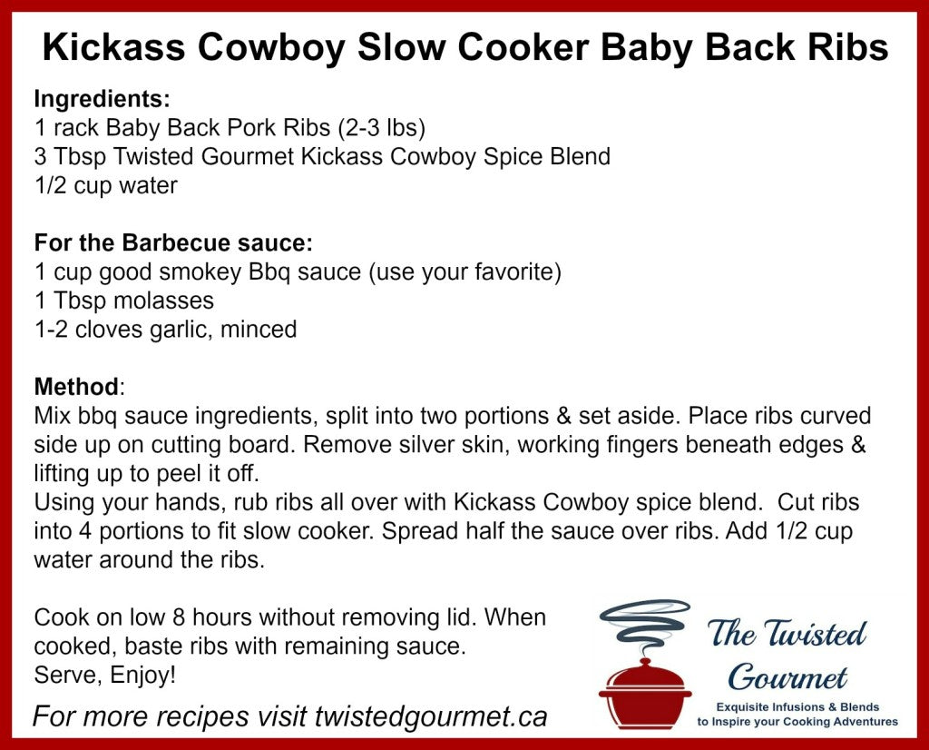 Kickass Slow Cooker Ribs Recipe Card