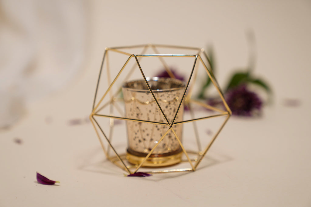 Mini Geometric Sphere Centerpiece Candle Holder