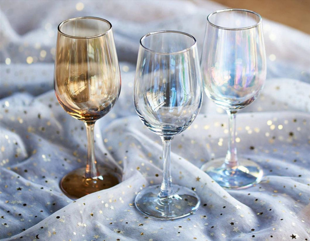 Iridescent Luster Wine Glass