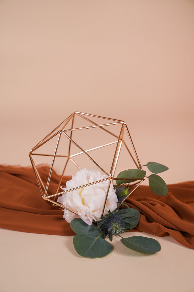 Geometric Centerpiece Terrarium Sphere (No Glass)