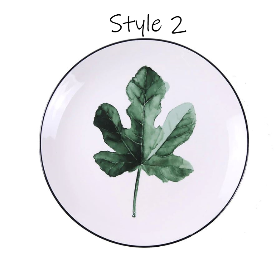 Porcelain Greenery Small Plates