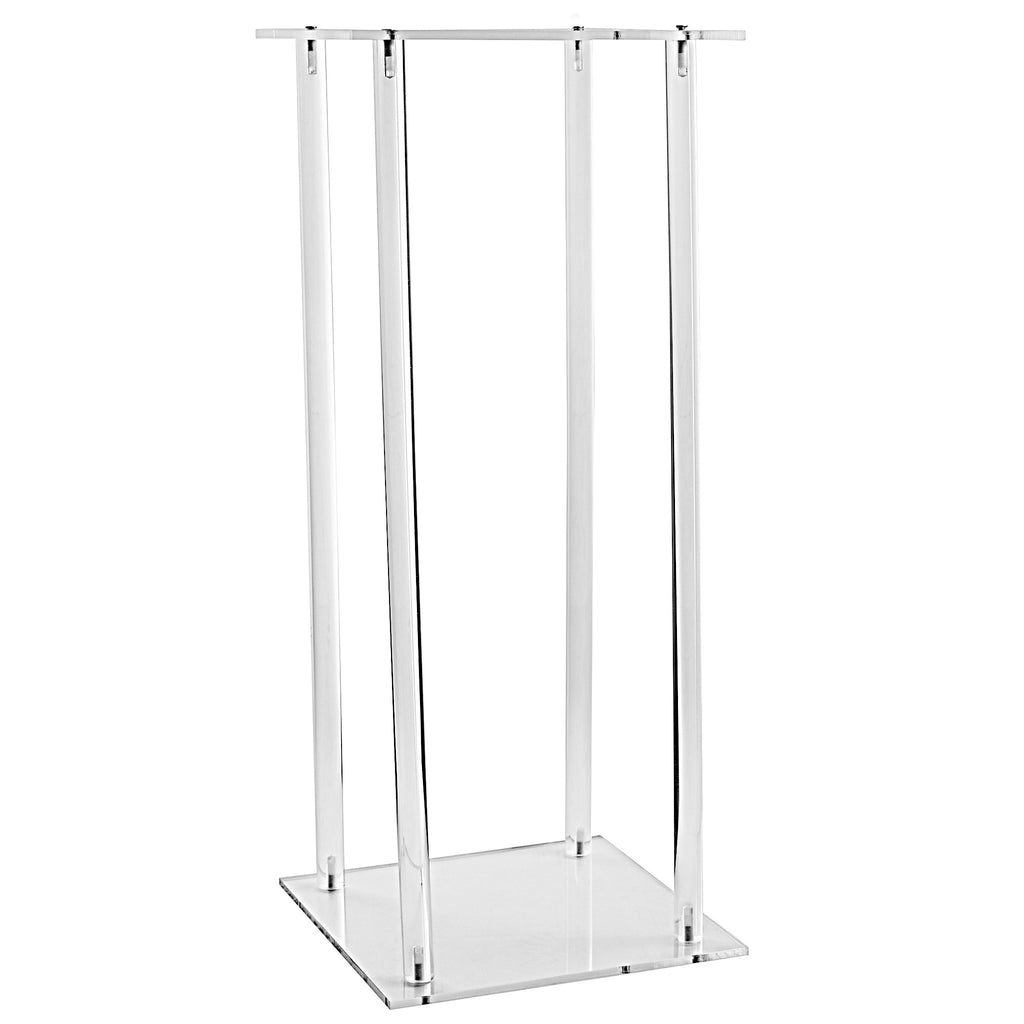 Acrylic Modern Rectangular Tall Centerpiece