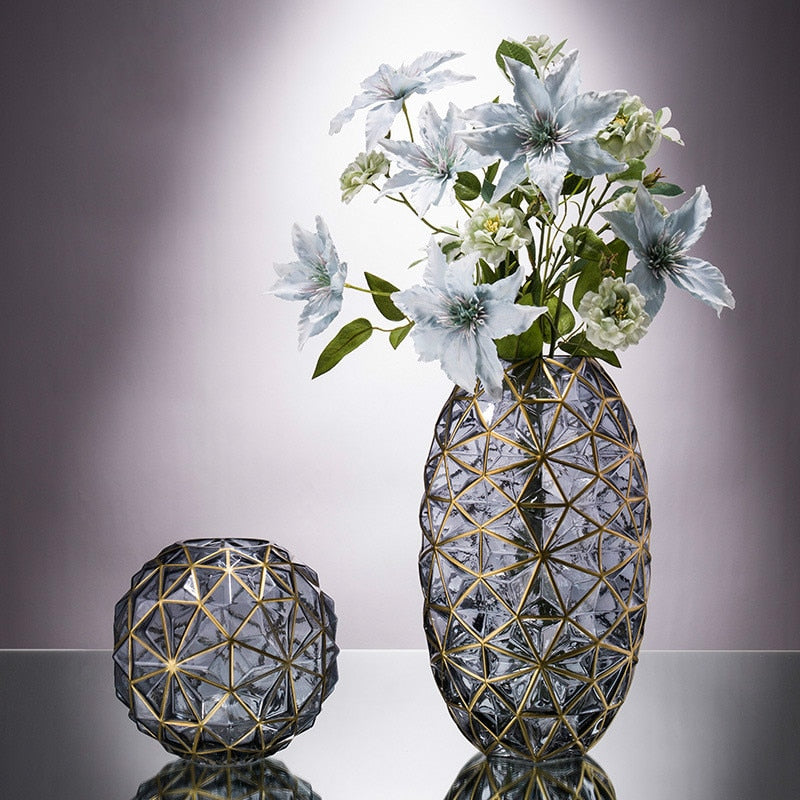 Glass Geometric Vases