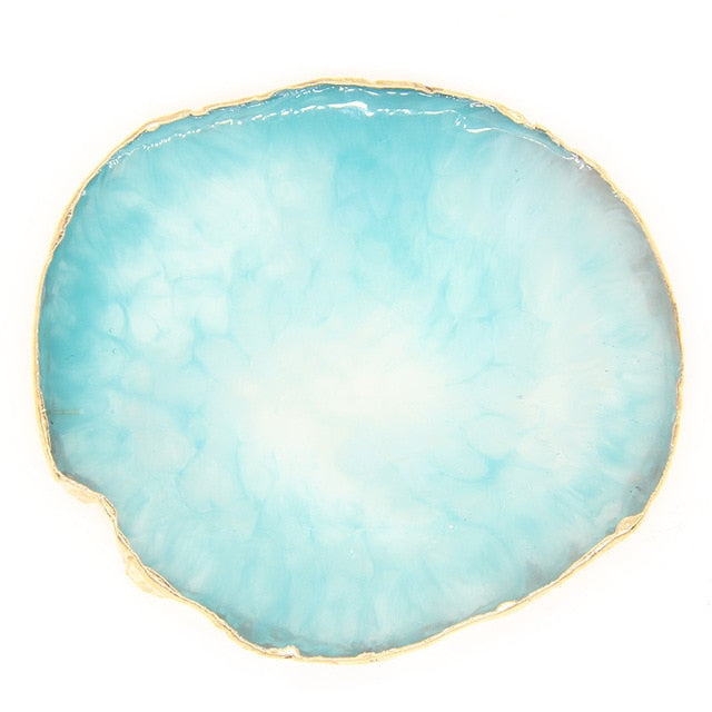 Gold Edged Agate Slice