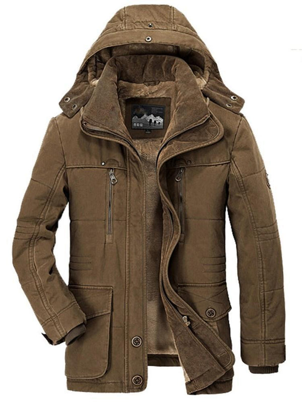 Plain Standard Stand Collar European Zipper Down Jacket