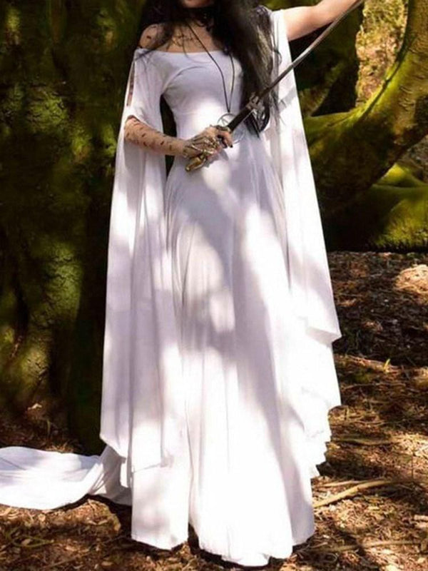 Floor-Length Long Sleeve Summer Fashion Dress