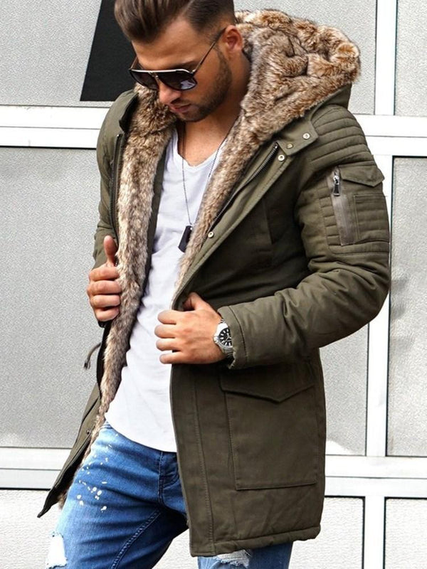 Plain Standard Winter Straight Coat