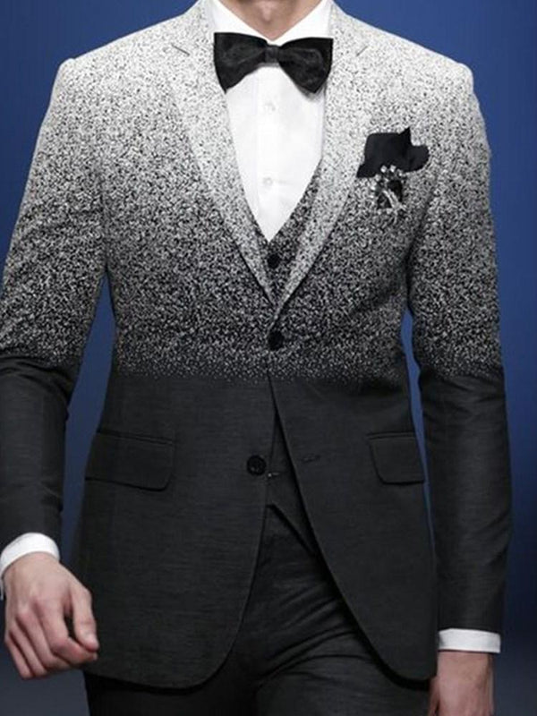 Single-Breasted Fashion Notched Lapel leisure Suit