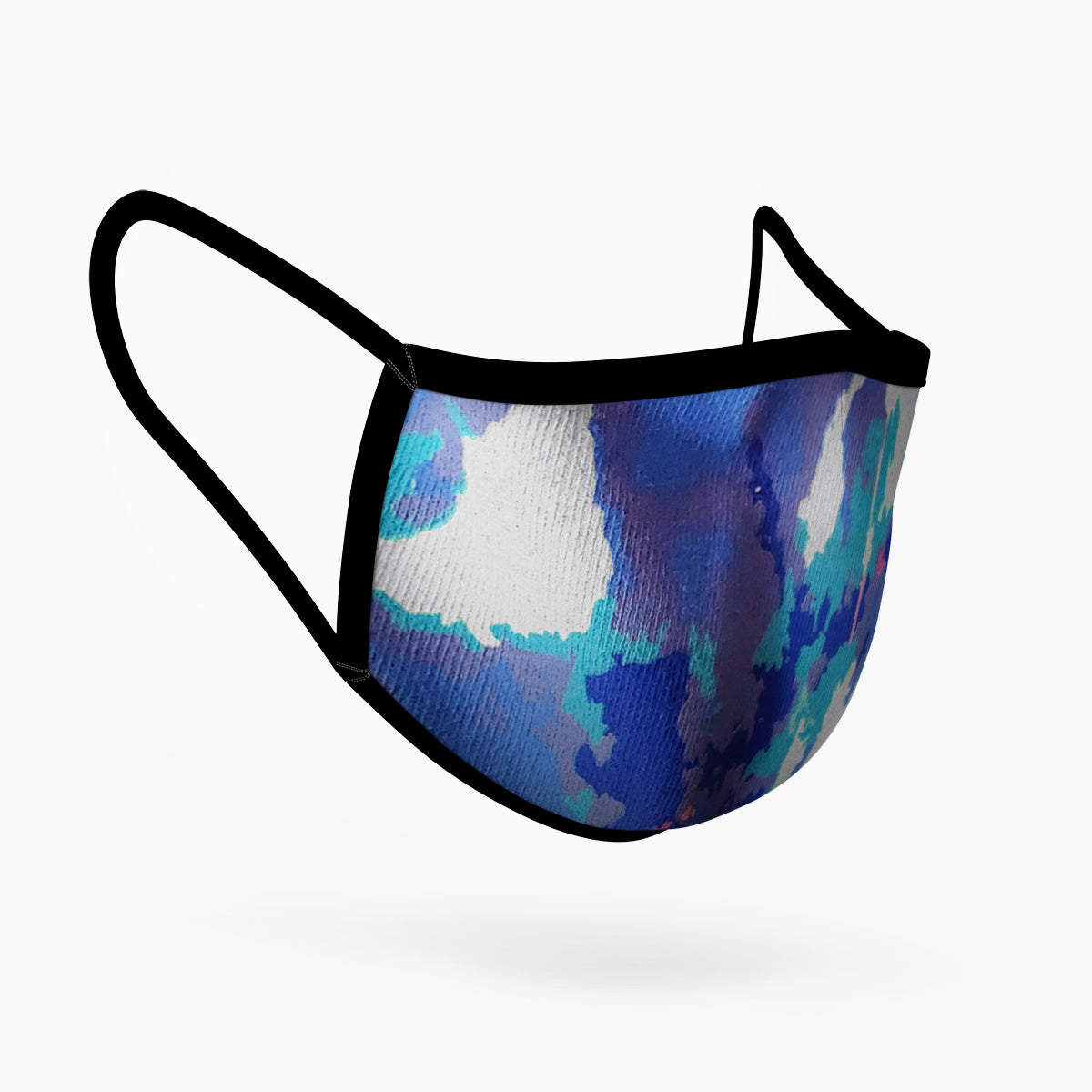 Blue Tie Dye Mask - Adults Only