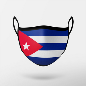 Cuba Flag Mask - Adult Only