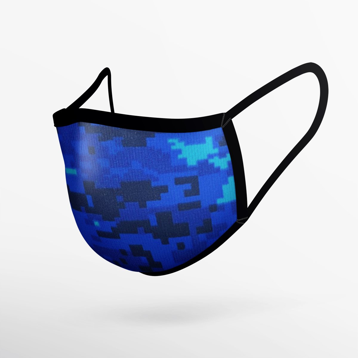 Camo Blue Mask- Adult & Youth