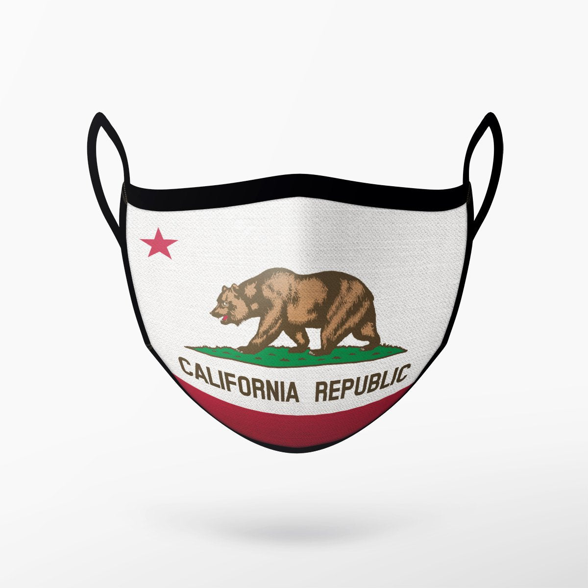 California Republic Flag Mask - Adult Only