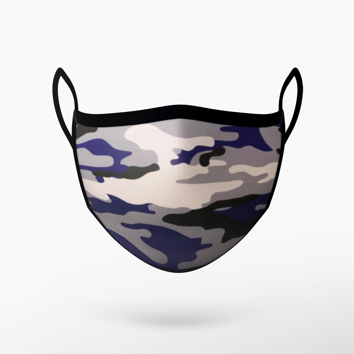 Camo Grey & Purple Mask - Adult & Youth