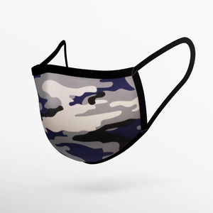 Camo Grey & Purple Mask