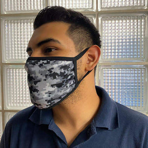 Camo Grey Mask - Adult & Youth