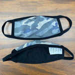 Load image into Gallery viewer, Camo Grey & Purple Mask - Adult & Youth