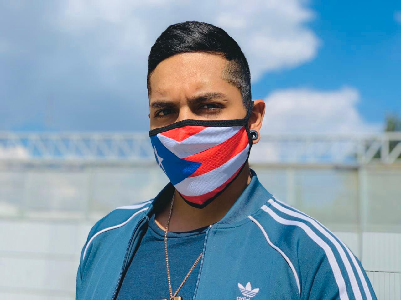 Puerto Rico Flag Mask