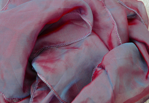 Peace wave Scarf~ Iridescent silk chiffon