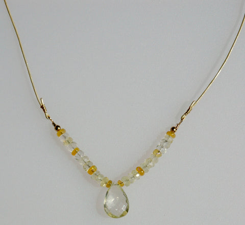 Yellow Aquamarine Drop