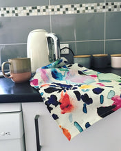 Load image into Gallery viewer, Paint splat tea-towel