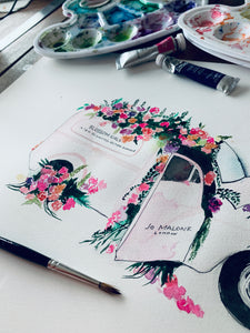Jo Malone floral car
