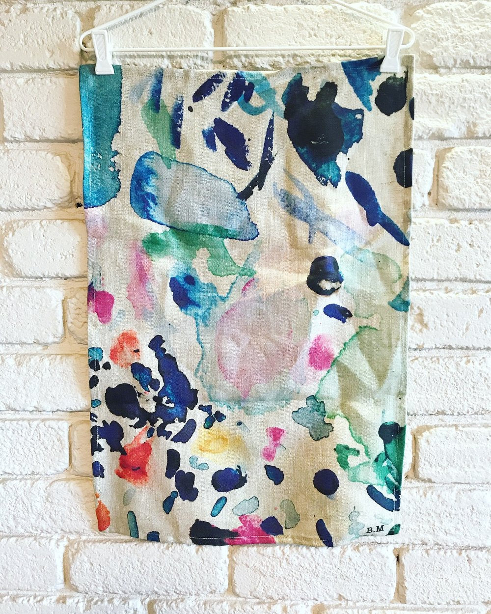 Paint splat tea-towel