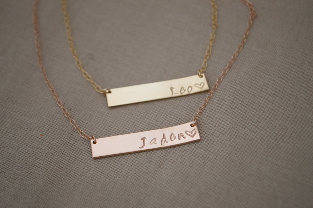 "Dia Bar Necklace - 1.25"" X 1/4"""