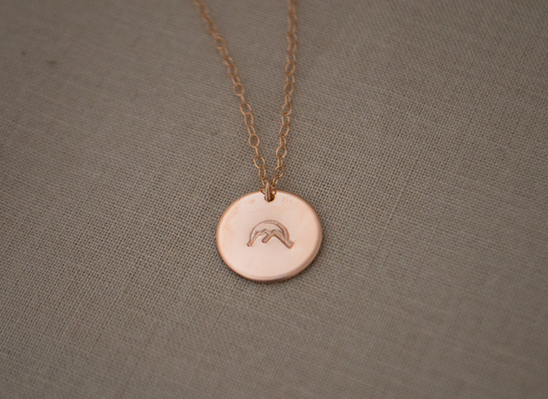 Sunset Mountain Disc Necklace - 1/2""