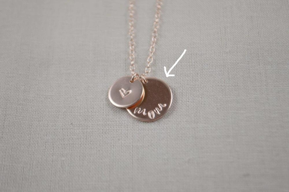 Phoebe Disc Necklace - 1/2""