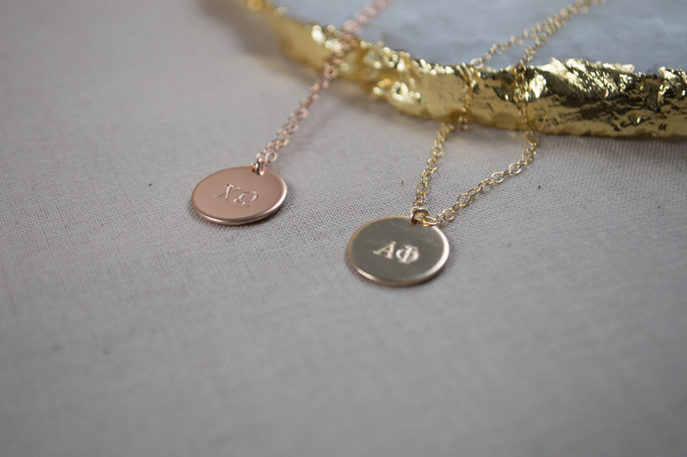 Greek Life Phoebe Disc Necklaces