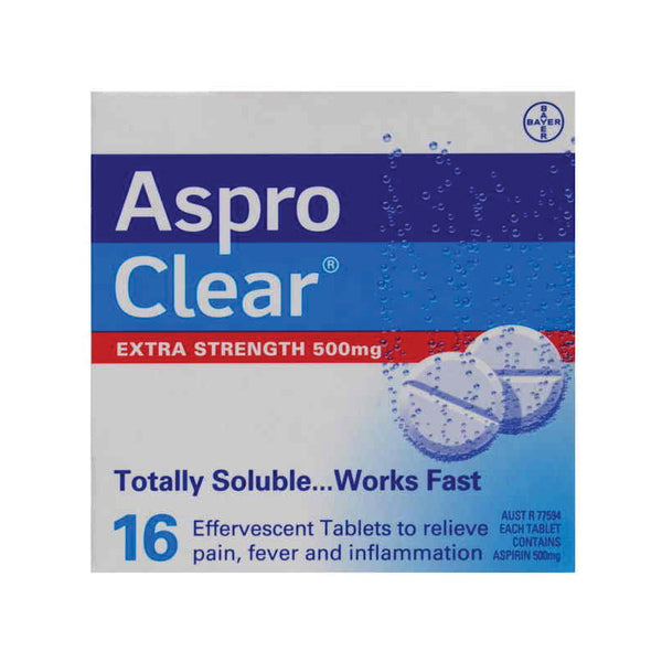 Aspro Clear Extra Strength 500mg Tablets 16