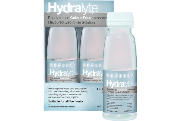 Hydralyte Ready to Drink Lemonade 250mL x 4