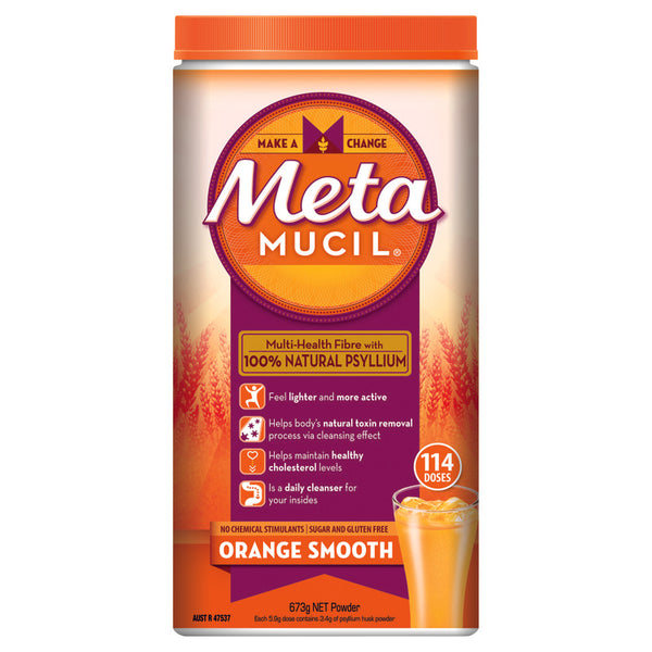 Metamucil Smooth Orange Powder 114 Doses