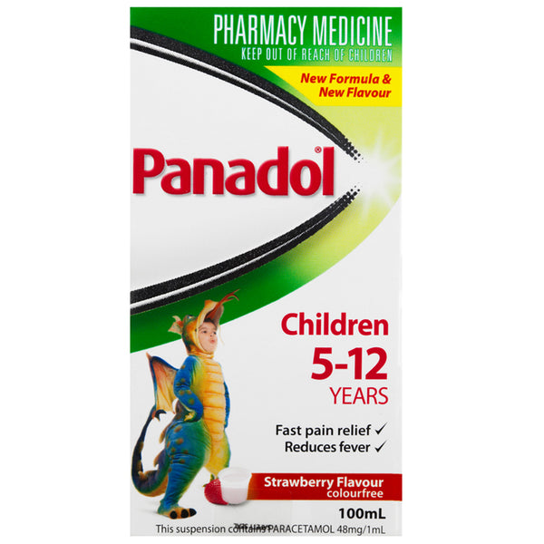 Panadol Children 5-12 Years Strawberry Flavour 100mL