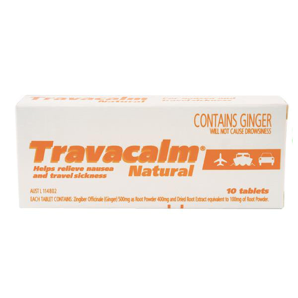 Travacalm Natural Tablets 10
