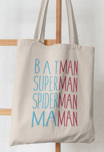 TOTE BAG BATMAN SPIDER SUPERMAN MAMAN _ Nantes_Saint_Nazaire