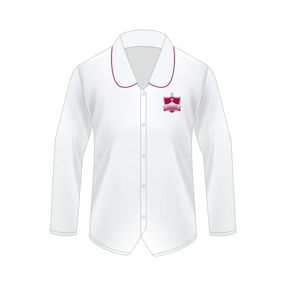 New Junior Crested Long Sleeve Blouse Years 7 -10