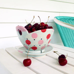 Berry bowl & saucer