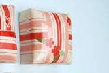 Petit Four, Stripes in Red & Pink w. Cherry Blossoms