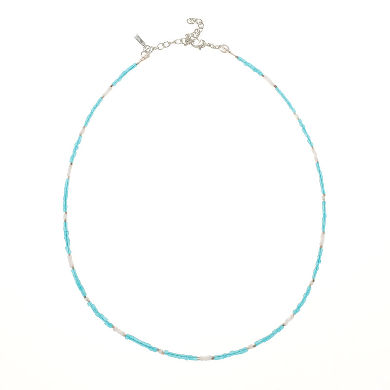 Bondi Necklace - Aqua White